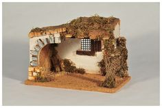 Portales Corcho - Belenes Laravid - Figuras de Navidad Portal, Christian Crafts, Christmas Nativity, Christmas Ideas, Ceramic Houses, Wool Art, Activity Days, Cribs, Art Projects