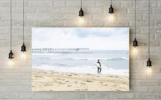 Surf Photography  Surfer Wall Art on Canvas  Ocean Beach