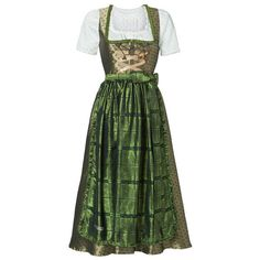 Exclusive Fendt dirndl dress ❤ liked on Polyvore featuring dresses, green color dress and green dress