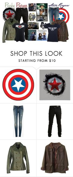 """""""Steve and Bucky"""" by jawind ❤ liked on Polyvore featuring Sebastian Professional, RoomMates Decor, Ted Baker, SELECTED and Barbour"""