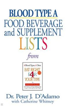 Blood Type A  Food, Beverage and Supplemental Lists by Peter J. D'Adamo,Catherine Whitney, Click to Start Reading eBook, The Eat Right 4 (For) Your Type portable and personal blood type guide to staying healthy and achievi