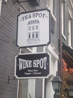 Tea and Wine in the same spot! I must go back!