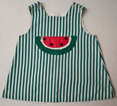 Vintage 3t Watermelon Dress. $9.00, Via Etsy. Diy Projects To Try, Crafts To Do, Crafts For Kids, Watermelon Dress, Arts And Crafts For Adults, Fru Fru, Toddler Fun, Clothes Crafts, Preschool Art