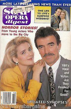 Soap Opera Digest March 6 1990 Melody Thomas Scott Robin Mattson Eric Braeden on eBay www.grammysbargains.com