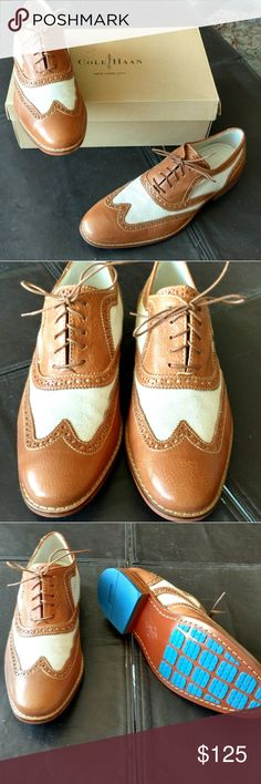 Cole Haan Men's shoes Saddle/Canvas Wingtip shoes are a perfect spring/summer shoe. Classic Style Cole Haan Shoes Oxfords & Derbys