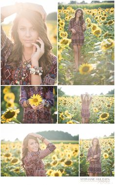Delaney ~ Class of 2015 ~ Indian Creek High School ~ Illinois Senior Photographer Summer Senior Pictures, Senior Photos Girls, Senior Girl Poses, Senior Girls, Pictures With Sunflowers, Sunflower Field Pictures, Sunflower Pics, Teen Photography, Autumn Photography
