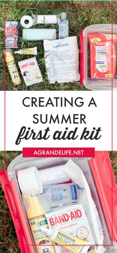 Creating a summer first aid kit kids activities лайфхаки, ла