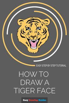 Love Drawings, Colorful Drawings, Animal Drawings, Easy Drawings, Drawing Animals, Pencil Drawings, Tiger Sketch, Tiger Drawing, Tiger Art