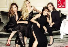 Yasmin Le Bon poses with her three daughters for the first time in 14 years | Daily Mail Online