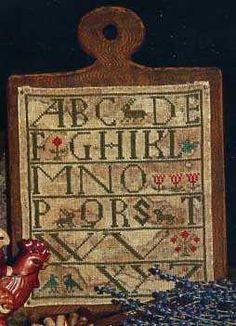 Primitive Cross Stitch Pattern Spring Tyme by FiddlestixDesign