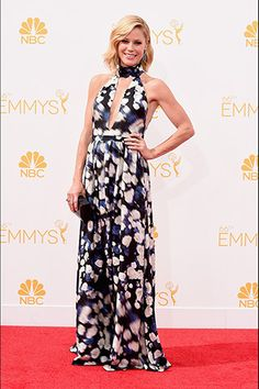 Julie Bowen, in Peter Som, with Jacob