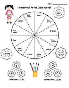 Color Wheel Template Kid S Color Wheel Craft Color Theory