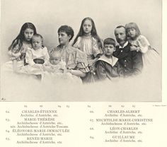 Aartshertog Karel Stefan met zijn vrouw en kinderen