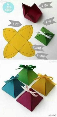 Pyramid gift wrap ~ clever! #givewithabandon | join group at www.facebook.com/givewithabandon