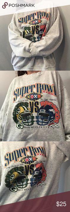 Vintage Broncos vs Packer Super Bowl Sweatshirt 5688222ee