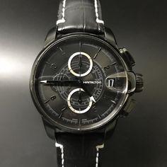 Hamilton Railroad Chronograph. #watchporn #watchmania #wristwatch #watchoftheday #timepiece #secondhand #instawatch #secondoriginalwatch #jamtanganseken #preownedwatch #luxurywatch. www.mulialegacy.com