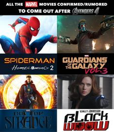 "- Marvelous Pics (@marvelous.pics) on Instagram: ""So #HYPED Spider-Man Homecoming 2: 2019 Guardians of the Galaxy vol. 3: 2020 Black Widow movie:…"""