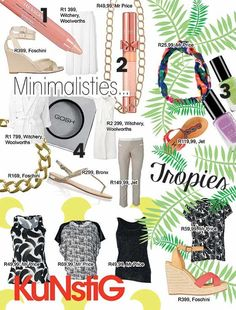 Three summer styles | Drie somerstyle 2015 Minimalist, tropical & artsy | Minimalisties, tropies & kunstig