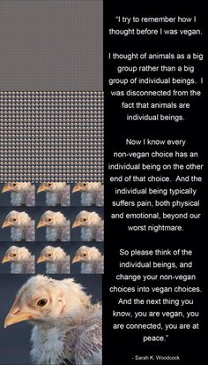 Think about the individuals on the other end of your choices.
