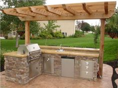 Inspirational outdoor kitchen ideas for small spaces, outdoor kitchen ideas images #doityourselfoutdoorkitchen