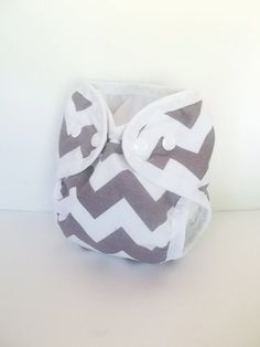 Gray Chevron Newborn diaper cover shell by CountingtheBlessings, $13.00