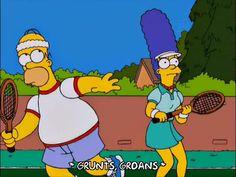 homer simpson fail marge simpson season 12 tennis playing episode 12 12x12 via diggita.it #tennis