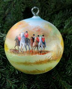 glass christmas ball hand painted by artwilk - Glass Christmas Balls