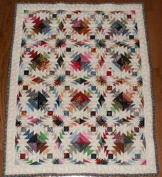 1st Scrap to Treasure Challenge quilt ~ Pineapple Swirl