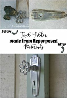 Hand Towel Holder Made with Repurposed Materials