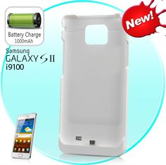 Ultra-Thin Extended Battery Power Pack Case for Samsung Galaxy S2 i9100 (LED Ind