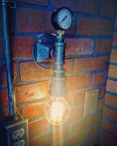 A personal favorite from my Etsy shop https://www.etsy.com/listing/460123486/steampunk-streamline-pressure-gauge-wall