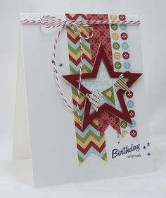 Love the layout on this. Could make a great boy birthday card. Mama Mo Stamps: Birthday & Anniversary Wishes