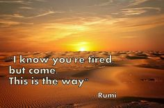 Rumi This is the way.