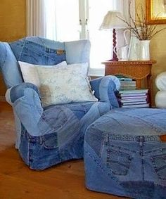 . . . . . How to Recycle: 501's Old Denim Jeans Projects