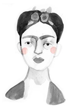 frida frida frida. by Clare Owen Illustration, via Flickr