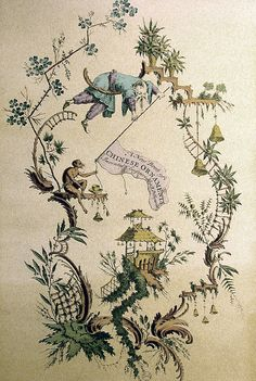 Chinoiserie. Surface fragment - delightful.