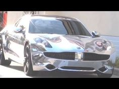 Last month Pop singer Justin Bieber received a 2012 Fisker Karma plug-in hybrid for his 18th birthday, but like any teenage rockstar, Beiber has modified his 102,000 dollar present – by completely covering the car in chrome! Apparently the chromed-out Fisker Karma is visible from 3 blocks away, and It's insanely blinding to anyone not sitting inside.