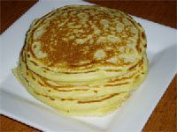 Basic pancake 1cup flour, 1cup milk one egg. - serves two