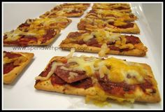 Pizza Snack Bites!  Ready in a just a couple of minutes!  Perfect grab and go snack!!