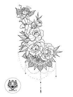 Ideas tattoo old school flower rose tat for 2019 Tattoo Femeninos, Thai Tattoo, Tattoo Fonts, Irezumi Tattoos, Marquesan Tattoos, Geisha Tattoos, Flower Tattoo Designs, Flower Tattoos, Trendy Tattoos