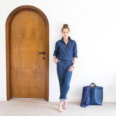Ma combi prend des vacances !  #bluemood #indigoàgogo #combiparfaite #grandebleue #coolattitude #instalook #fashion #instamode  Combinaison réf. 500898530 Foulard réf. 500781171
