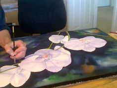 How To Paint Orchids flowers Watercolor by Lori Andrews