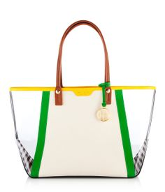 West 57th Color Blocked E/W Tote