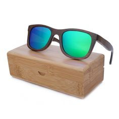 2016 Fashion Polarized Bamboo Wooden Sunglasses With Wooden Case