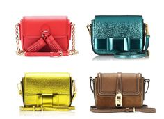 Burberry — Berkeley mini bags in electric colours Want want want!