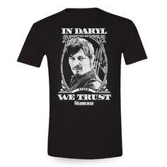 The Walking Dead - In Daryl We Trust Herren T-Shirt - Schwarz: Amazon.de: Bekleidung