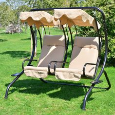 Found it at Wayfair - Outsunny Patio Swing with Stand
