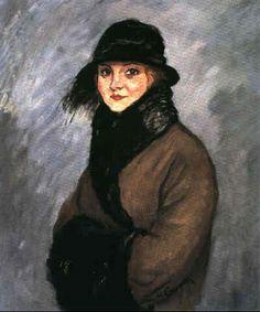 Charles Camoin - Portrait de femme au manchon