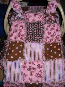 Rag quilted car seat cover