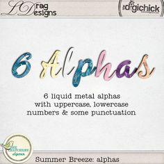 Summer Breeze: Alphas by LDrag Designs